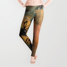 Grow Through It: sunflowers in the rain - abstract mixed media piece Leggings