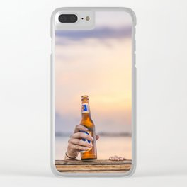 Here's my beer! Clear iPhone Case