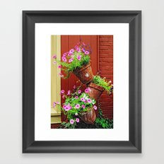 Potted Petunias Framed Art Print