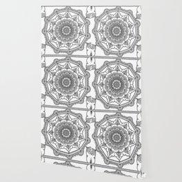 White Henna Bloom Wallpaper