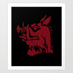 Black Knight Art Print