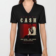 Cash Live at Folsom Prison Unisex V-Neck