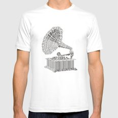 Music just for you MEDIUM Mens Fitted Tee White