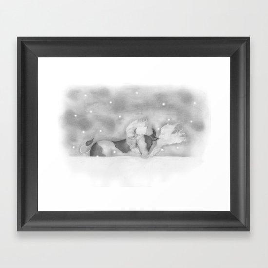 Cold Cow Framed Art Print