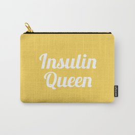 Insulin Queen Script (Primrose) Carry-All Pouch