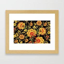 Khokhloma pattern Framed Art Print