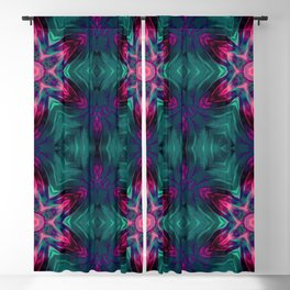 Abstract Art Graphic Abstract Pattern Green Red Blackout Curtain