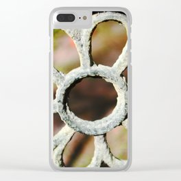 Metalic Flower Clear iPhone Case