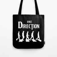 1d Tote Bags featuring 1D Road by pygmy