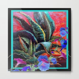 Surreal Sunrise Morning Glories Desert Landscape Metal Print