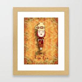 Red Tea Girl Framed Art Print