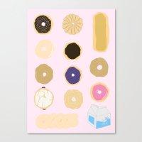 liz lemon Canvas Prints featuring Liz Lemon's Donut Order by ohmymaude