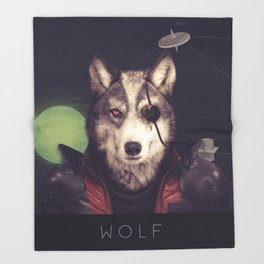 Star Team - Wolf Throw Blanket