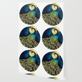 Golden Peacock Wallpaper