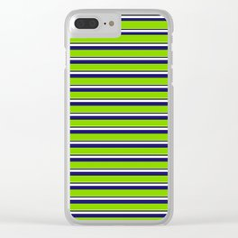 Green Stripes of Spring Clear iPhone Case