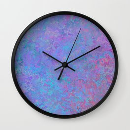 Purple and blue abstract background Wall Clock