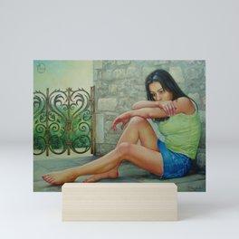 Teimuraz Kharabadze - Teimuraz Kharabadze. Portrait of a Natia Kelly Mini Art Print