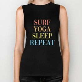 Surf Yoga Sleep Repeat Biker Tank