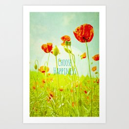 Choose Happiness Art Print