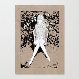 girl on a chair Canvas Print