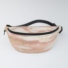 Marble - Rose Gold Shimmer Marble with Yellow Gold Glitter Fanny Pack