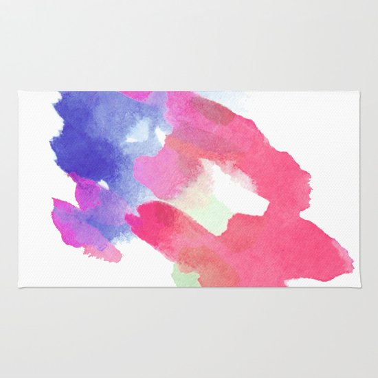 Refreshing Color Water. Colorful Watercolor Paint. Blue