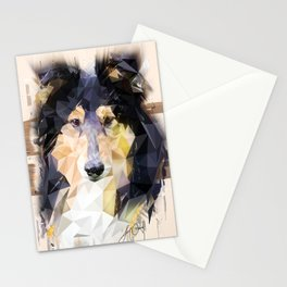 Rough Collie (Low Poly) Stationery Cards