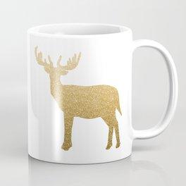 Standing Gold Deer Coffee Mug