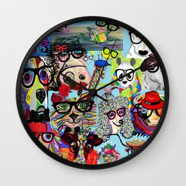 Hip Animals with Glasses . . . The Cool Kids! Wall Clock