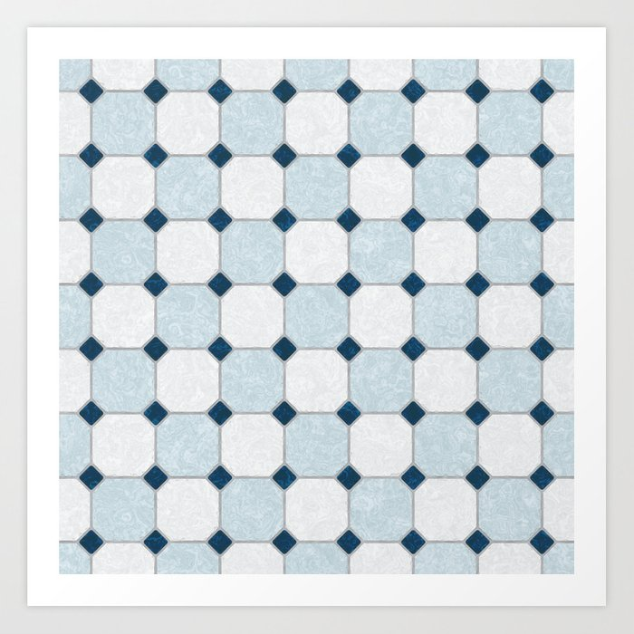 Sky Blue Classic Floor Tile Texture Art Print By Textures Society6