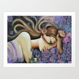 Illustration, painting,  photo, nature, flowers Art Print