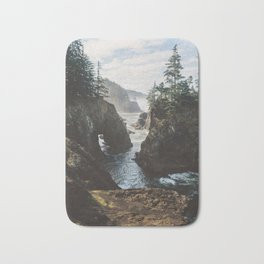 Misty Oregon Coast Bath Mat