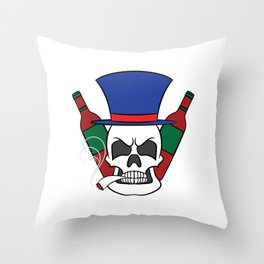 Fierce and creative skull tee design. Makes a nice and unique gift to your loved ones too!  Throw Pillow