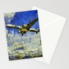 Airliner Van Gogh Stationery Cards