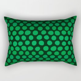Emerald Green Ombre Dots Rectangular Pillow