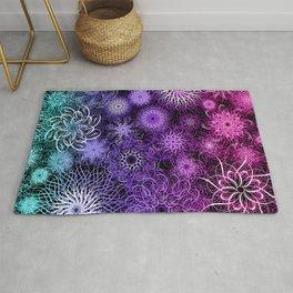 Unicorn Floral Mandala Swirl Pattern Rug