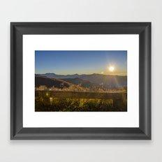 Sunrise on the Blue Ridge #2 Framed Art Print