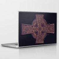 celtic Laptop & iPad Skins featuring Celtic Cross by pakowacz