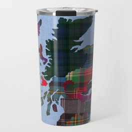 Scotland Counties Fabric Map Art Travel Mug