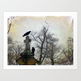 A Gatherng Of Crows Art Print