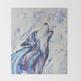Wolf Howl Throw Blanket