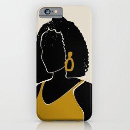 Black Hair No. 11 iPhone Case