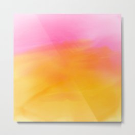 Abstract Watercolor Soft Background Metal Print