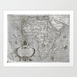 Old map of Africa Art Print