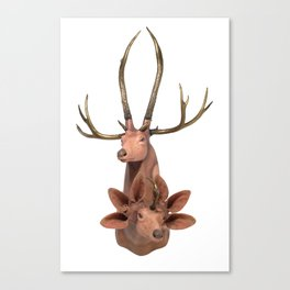 Trophy Head (7Horned6AuditoryMerged) Canvas Print