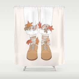 Autumn Walks Shower Curtain