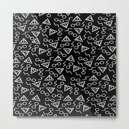 death hallow pattern Metal Print