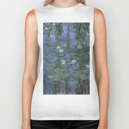 1916-Claude Monet- Blue Water Lilies-200 x 200 Biker Tank