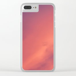 Purple Sky with Orange Clouds Clear iPhone Case