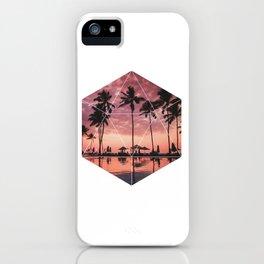 SUNSET PALMS- Geometric Photography iPhone Case
